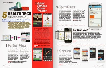 Chicago Health magazine - Winter 2014 print issue: 5 Health Tech Apps to Help You Eat Better & Exercise More