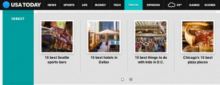 Top 10 Pizza in Chicago gets some love on the USA Today Travel home page