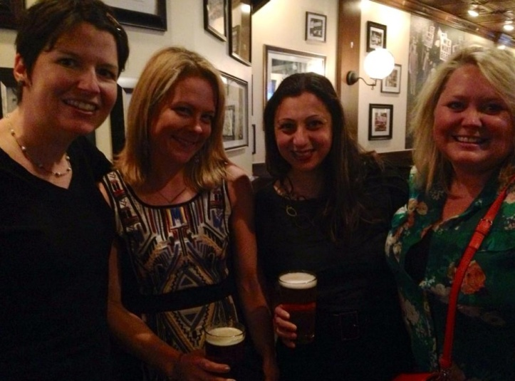 Always fun to catch up with friends over a pint.